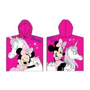 Minnie Mouse pink szinu furdo poncso unicornis