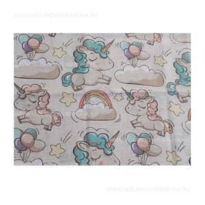 Unicornis textil pelenka mintas