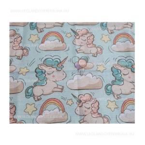 Unicornisos textil pelenka kek szinu