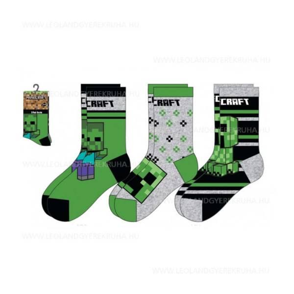 Minecraft gyerek zokni 3 darabos csomag
